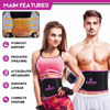 Picture of AWAKER Pink Sweat Waist Trimmer, Sweat Waist Trainer Belt for Women Weight Loss Sweat Slimming Stomach Band Low Back and Lumbar Support with Sauna Suit Effect Premium Sport Girdle Belt