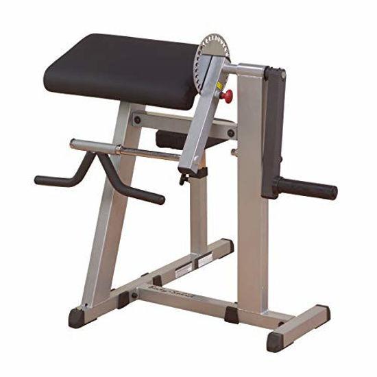Picture of Body-Solid GCBT380 Cam Series Biceps and Triceps Machine with Adjustable Seat, Grey