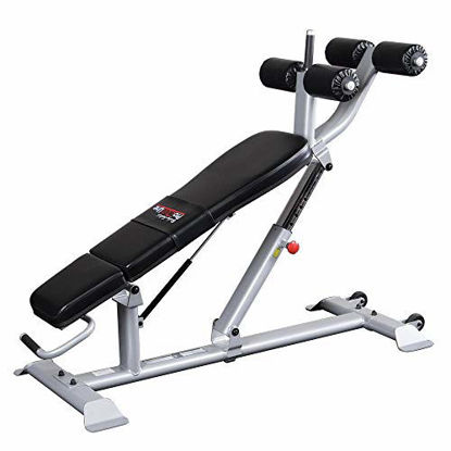 Picture of Body-Solid SAB500 Pro Clubline Ab/Hyper Bench for Abdominal Workout, Home and Commercial Gym