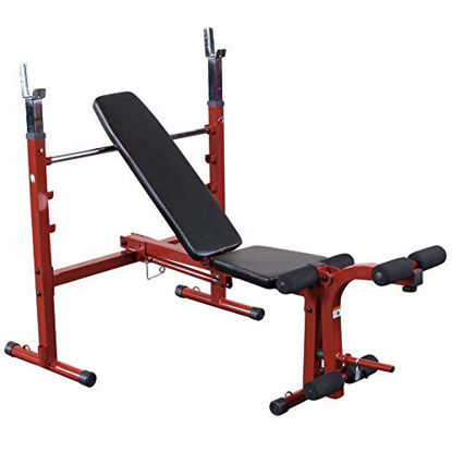 Picture of Body-Solid Best Fitness BFOB10 Adjustable Olympic Folding Weight Bench for Home Gym