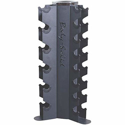Picture of Body-Solid GDR80 Vertical Dumbbell Rack for 10 Pairs of Hex Dumbbells, Black