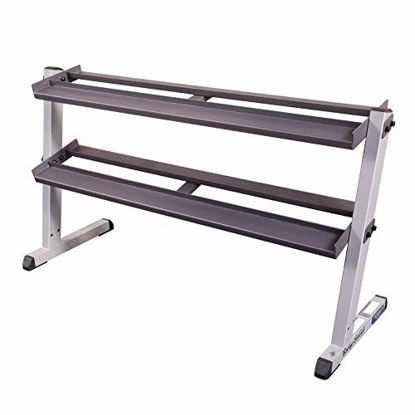 Picture of Body-Solid GDR60 2-Tier Horizontal Dumbbell Weight Storage Rack
