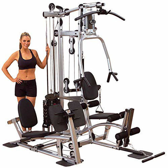 Picture of Body-Solid Powerline P2LPX Home Gym Equipment with Leg Press, Grey/Black