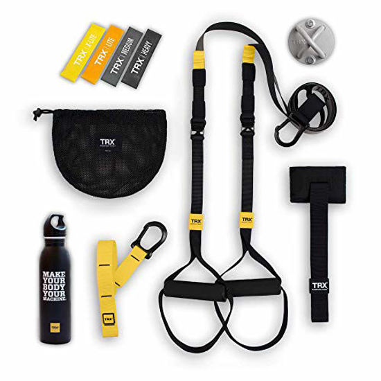 Picture of TRX Go Bundle: Includes Go Suspension Trainer, Training X-Mount, Training Set of 4 Mini Bands & TRX Training Stainless Steel Water Bottle